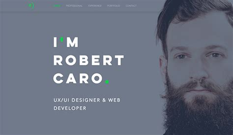 Resume Portfolio Website by Portfolio Website Templates Design Wix