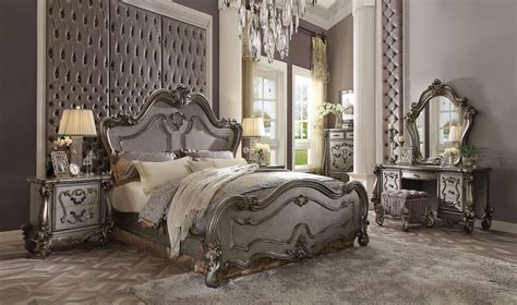 versailles bedroom set versailles dresser antique platinum finish usa warehouse