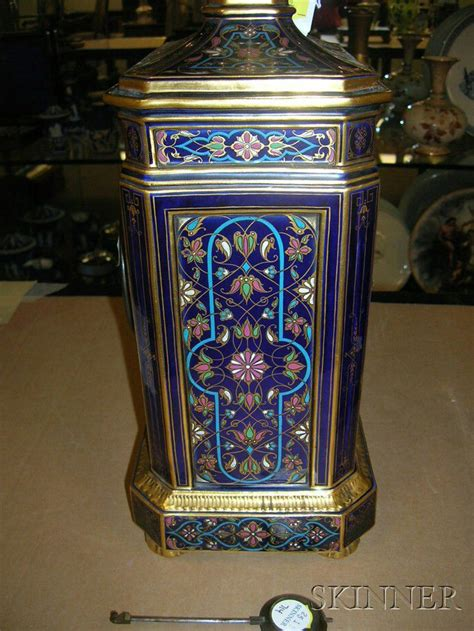 meissen porcelain persian style clock case  stand
