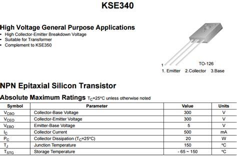 transistor kse340 transistor kse340 28 images mua transistor a1015 28 images a1015 sot23 trans pnp 0 15a 50v