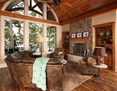 lake home interiors lake house traditional family room other metro by