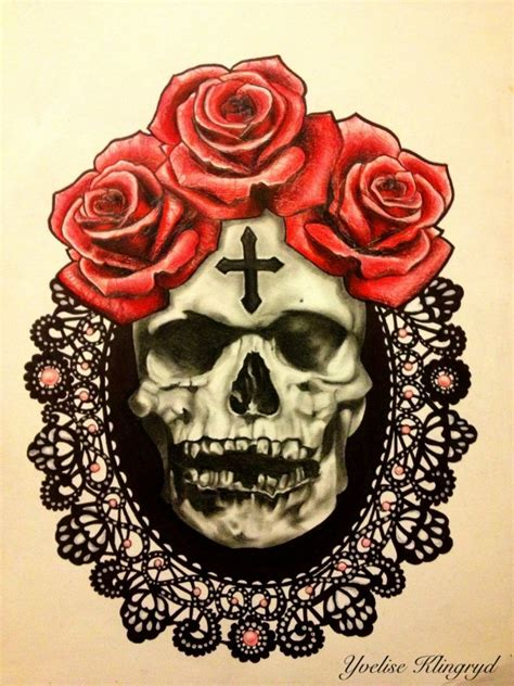 tattoos of skulls with roses skull and designs best designs