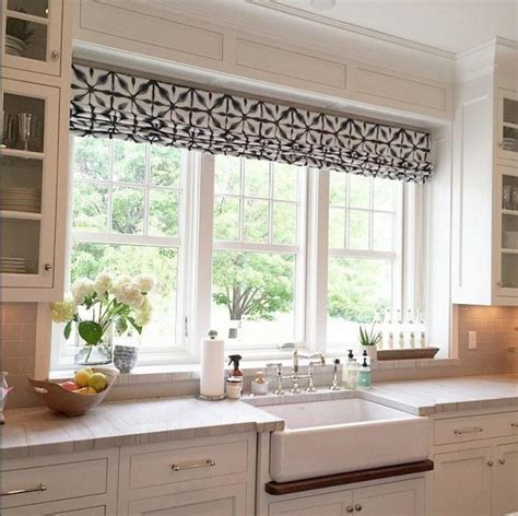 large kitchen window treatment ideas 30 kitchen window treatment ideas for decoration