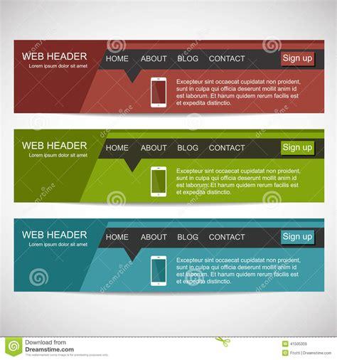 flat design header size web header in flat design style stock vector image 41505309