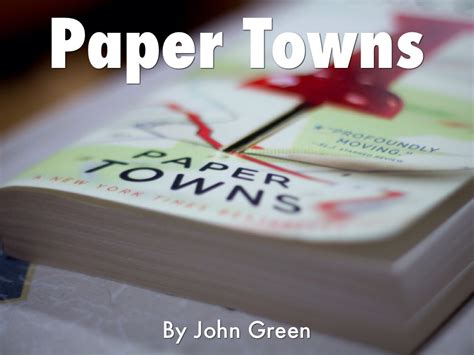 paper towns book report paper town book report by nikkole morefield