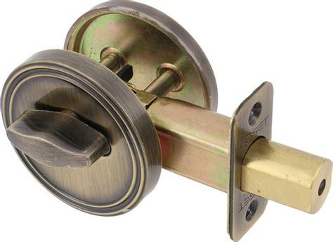 Deadbolt Door Knob All In One by Ezset Door Hardware One Sided Bore Deadbolt
