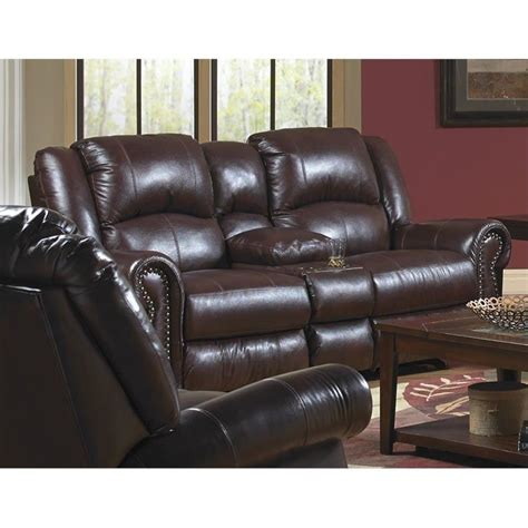 Catnapper Leather Sofa Catnapper Livingston Leather Power Reclining Loveseat In Redwood 64509127404307404