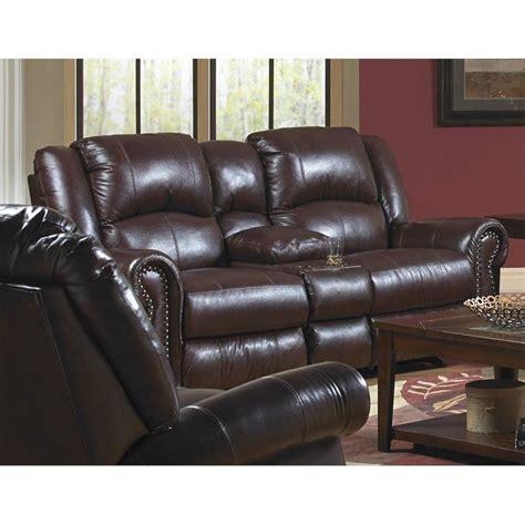 catnapper reclining loveseat catnapper livingston leather power reclining loveseat in