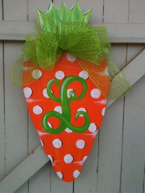 spring carrot door hanger carrots wreaths and doors wooden door hanger spring carrot easter hand painted