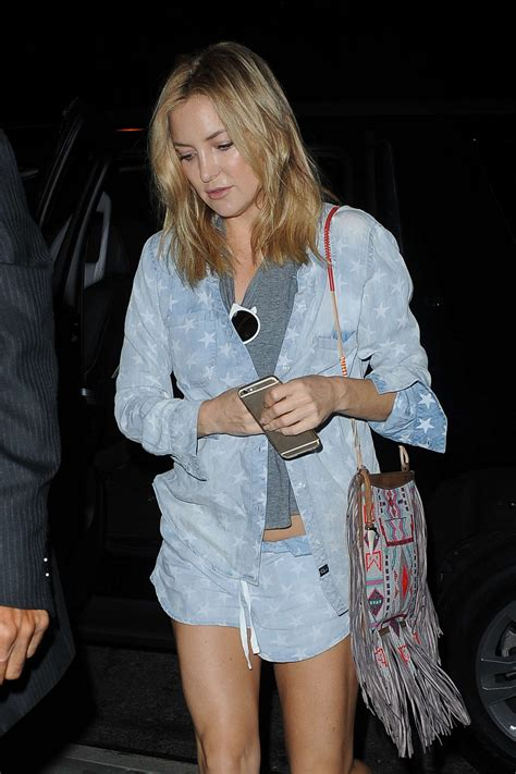 Denim Kate Hudson by Kate Hudson In Denim Shorts Out In Nyc
