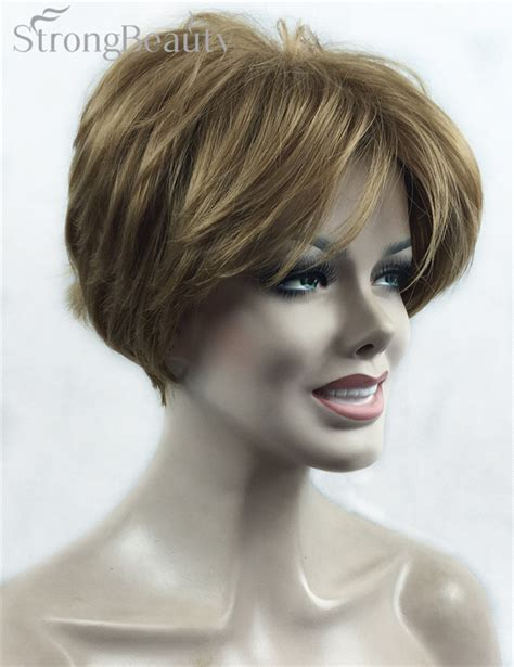 Wig Rambut Sintetis Untuk gaya rambut pendek perempuan beli murah gaya rambut pendek