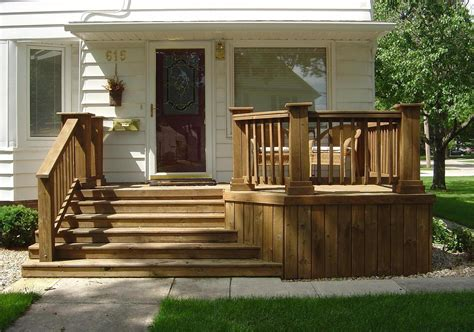 Wooden Front Stairs Design Ideas The And Practicality Of Wood Decks And The Iowa Countryside An Outdoor Living Space
