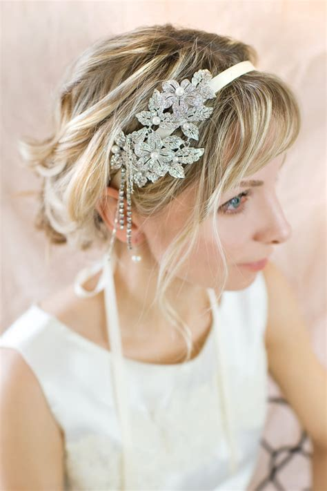Vintage Wedding Hair Bands Uk by Vintage Style Bridal Hairband Gatsby 1920s Pearl Hairband