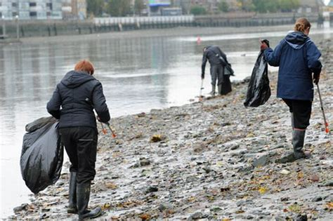thames river clean up thames clean up volunteers find four guns in the water