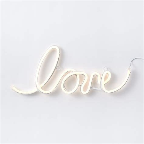 lights words led light up word objects west elm