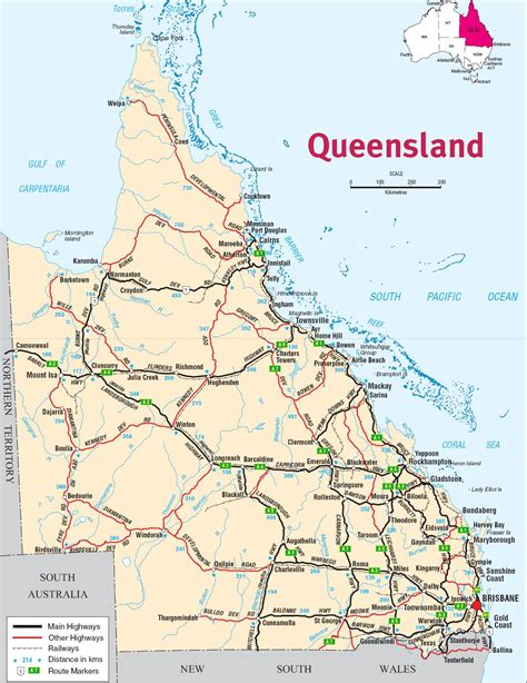 queensland australia map queensland state maps australia maps of queensland qld 12