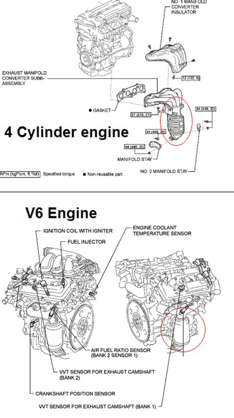 P0420 2010 TOYOTA CAMRY Catalyst System Efficiency Below