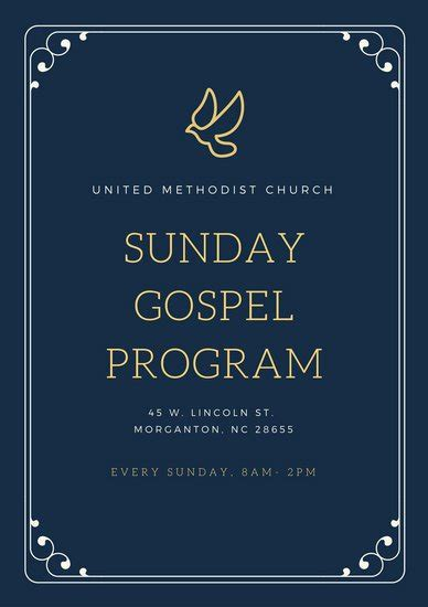 Customize 110 Church Program Templates Online Canva Church Program Template Graphics