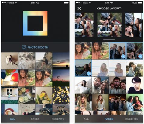 layout for instagram collage instagram launches layout a new photo collage app for