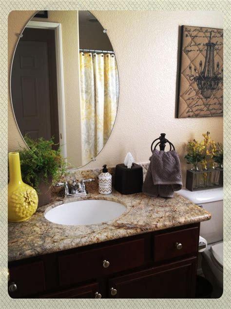 brown and yellow bathroom yellow gray bathroom makeover gray brown green