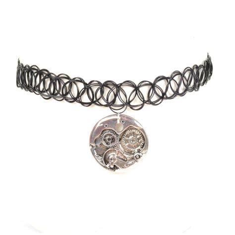 tattoo choker bracelet choker necklace ring bracelet 90s grunge vtg