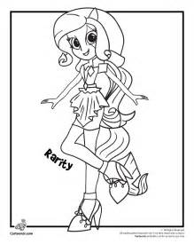 pony coloring pages rainbow dash equestria girls kids coloring