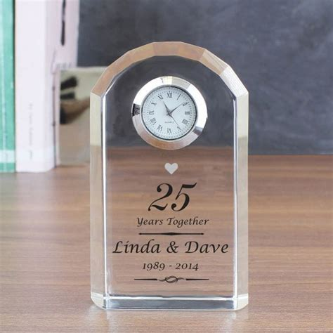 Personalised Silver Wedding Anniversary Clock   Find Me A Gift
