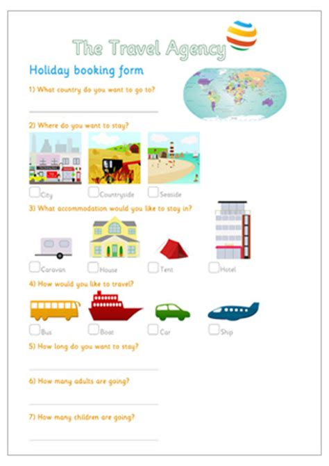 travel booking template booking form eyfs travel agency play free
