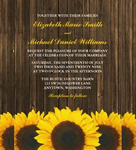 Barn Invitation Template by 21 Sunflower Wedding Invitation Templates Free Sle