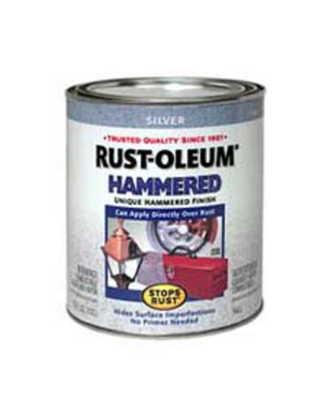 rust oleum 174 stops rust 174 hammered silver paint 1 qt at menards 174