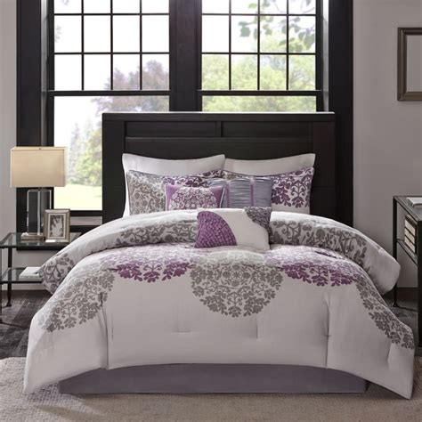 gray and purple comforter set 1000 ideas about purple and grey bedding on pinterest