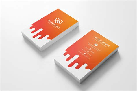 Electronic Card Templates by Electronic Vertical Business Card Design Template 001795