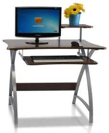 narrow compact computer desk home living space saving