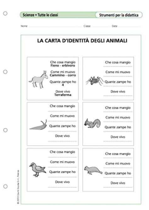 test ingresso italiano l2 la carta d identit 224 degli animali la vita scolastica