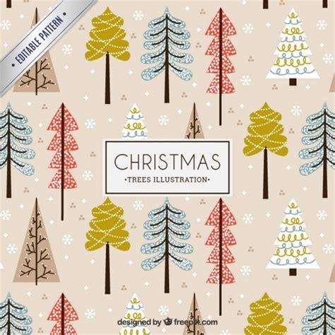 christmas tree pattern vector christmas trees illustration pattern vector premium download