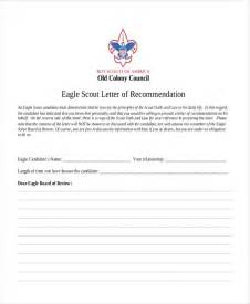 Eagle Scout Recommendation Letter Template by 10 Sle Eagle Scout Recommendation Letter Free Sle