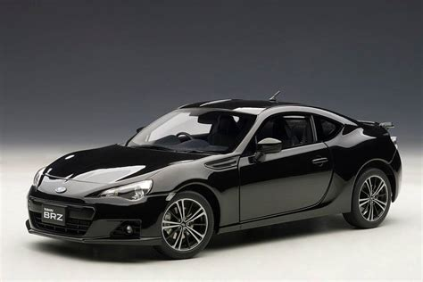 subaru brz all black autoart subaru brz black 78692 in 1 18 scale mdiecast