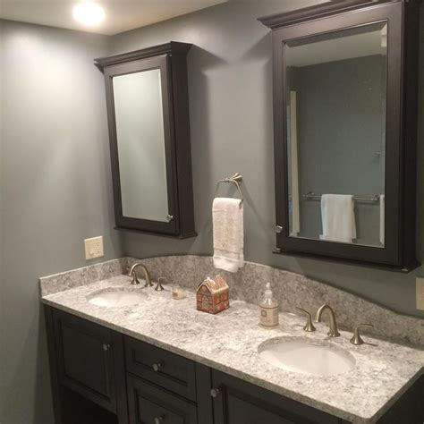 Bathroom Vanities Ri Black And White Bathroom Vanity In A Black Feathered Glaze Viatera Countertop Aucet And
