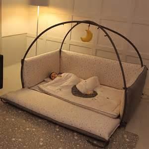 Toddler Bed Bumper Microfiber Foldable Baby Bumper Bed Big Moon Large