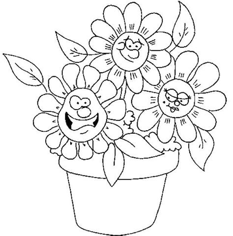 cute spring coloring pages cute spring flower coloring pages printable things