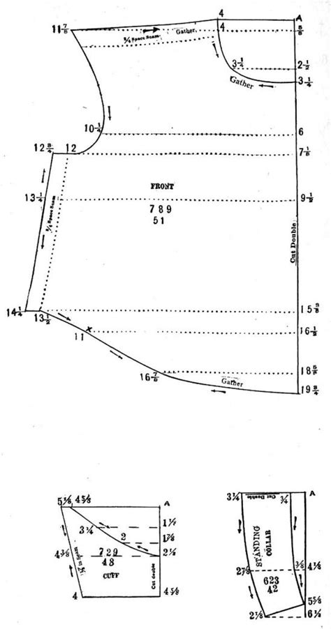 edwardian pattern drafting edwardian waist blouse pattern