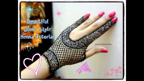 apply easy simple beautiful glove henna mehndi designs  hands tutorial eidmarraige