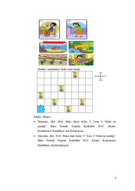 Buku Teks Tematik Terpadu Tema Sehat Itu Penting Untuk Sd Mi Kelas V rpp kelas 5 tema 4 sub 1 pem 1
