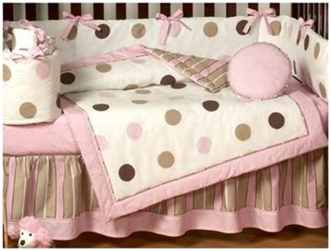 Design Baby Room Gazee Pink And Brown Polka Dot Crib Bedding