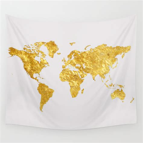 map tapestry world map wall tapestry by davis designs society6