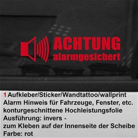 Laden Fenster Aufkleber by Aufkleber Alarmgesichert G 252 Nstig Kaufen Bei Yatego