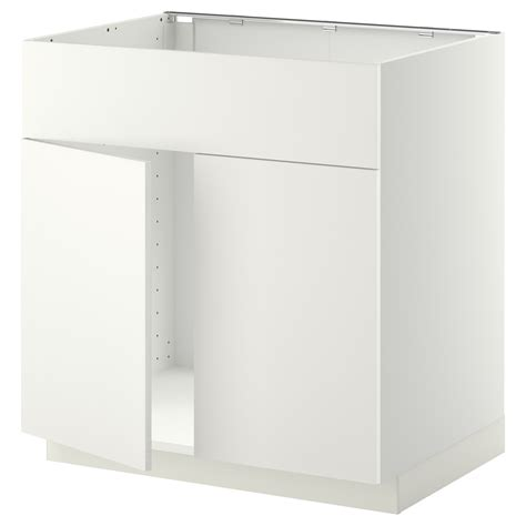 ikea kitchen base cabinets metod base cabinet f sink w 2 doors front white h 228 ggeby