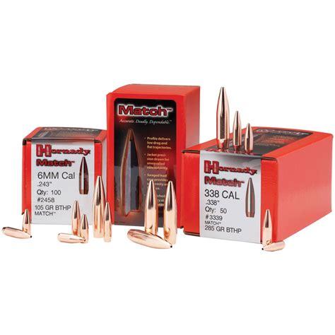 The 100 Gr hornady match bullets 30 cal 308 quot 168 gr bthp 100 ct natchez shooters supplies