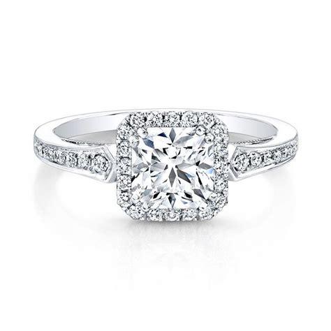 18k white gold vintage inspired square diamonds halo
