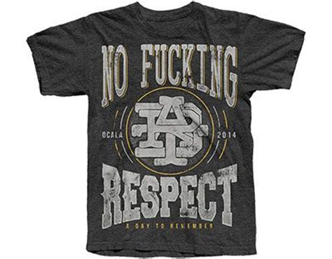 Kaos Band A Day Remember Tshirt Musik A Day 03 a day to remember no respect t shirt